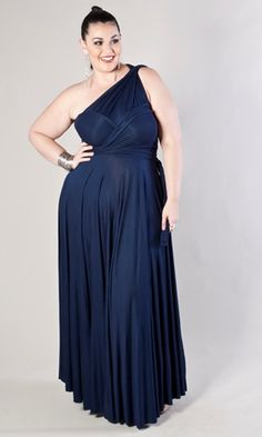 95e28add7c6 This is the Anastasia Maxi Dress in Deep Blue. Plus Size Party Dresses