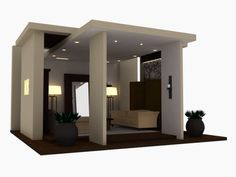 3D visual. Furniture exhibition booth.