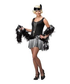 Another great find on #zulily! Black & Gray Flapper Girl Costume - Women #zulilyfinds