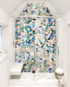 This shower wall is what dreams are made of! photo by @stephanibuchmanphoto design by @mthome.ca