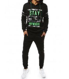 Čierna pánska súprava Graphic Sweatshirt, Sweatshirts, Sweaters, Jackets, Fashion, Down Jackets, Hoodies, Fashion Styles, Sweater