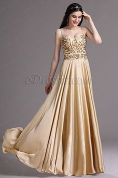 ... Gold Spaghetti Sequins Lace Prom Dress Ball Gown (00165624) on imgfave #summer