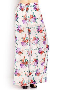Botanical Floral Wide-Leg Pants | FOREVER 21 - 2000127314