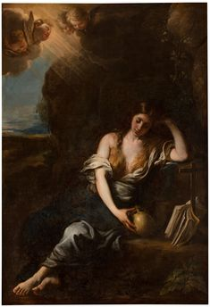 The Magdalene in the Desert / La Magdalena en el desierto // 1675-1680 // (Attributed to) Francisco Ignacio Ruiz de la Iglesia // Museo del Prado