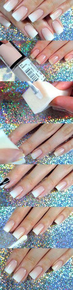 Best Nail Art Ideas for Brides - Perfect French Fade - Natural Nail - Simpe, Cute, DIY NailArt Tutorials That Are Step By Step For Brides. Everything From The Wedding Manicure To French Tips To Simple Sparkle and Bling For The Ring Finger. These Are Super Fun And Super Easy. - https://thegoddess.com/nail-art-ideas-for-brides