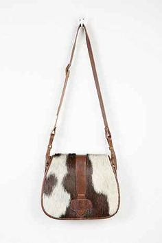 Ecote Calf Hair Saddle Bag - Urban Outfitters