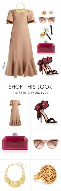 """""""~It was fascination, I know~"""" by maloops ❤ liked on Polyvore featuring Valentino, Maryam Keyhani, Gianvito Rossi, Judith Leiber, Victoria Beckham, Oscar de la Renta, Chloé, Lele Sadoughi, france and cannes"""