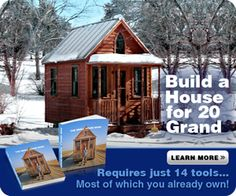 "Pinner says""200-600 sq ft Pre-Fab Guest House cottages Delivered and Installed for as low as $6450"""