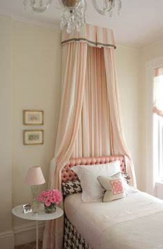 If the boyfriend doesn't go for the crown and flowing fabric above the bed I always have the guest room...