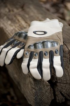 Reinforced Oakley gloves. Even with a good pair, don't be afraid to get your hands dirty!