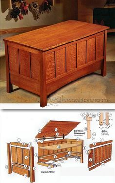 Build Blanket Chest - Furniture Plans and Projects - Woodwork, Woodworking, Woodworking Plans, Woodworking Projects Woodworking Furniture Plans, Diy Furniture Plans Wood Projects, Easy Wood Projects, Woodworking Box, Easy Woodworking Projects, Project Ideas, Chest Furniture, Wood Furniture, Blanket Chest