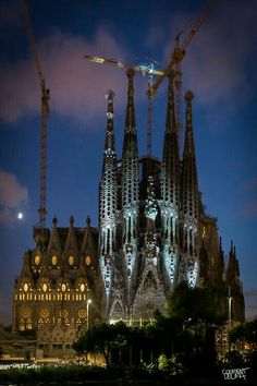 Night Time @ Sagrada Familia , Barcelona, Catalunya, Spain