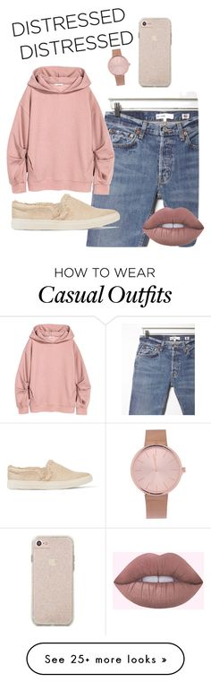 """""""Casually distressed"""" by jsmith197170 on Polyvore featuring RE/DONE and Schutz"""