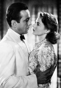 "wehadfacesthen: "" Humphrey Bogart and Ingrid Bergman in Casablanca (Michael Curtiz, 1942) """