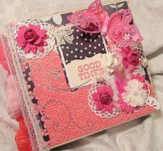 TPHH Premade Mini Chipboard Album Good Times all occasion flowers SWAK #DCWV