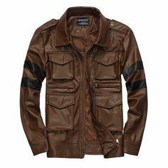 Men Leather Jacket Motorcycle Jacket Men