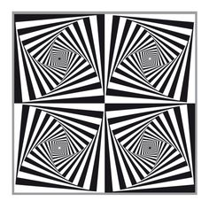 op art quadruple square twist. In the Zentangle world we call this a stripped Paradox.