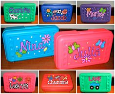 personalized pencil boxes personalized kid by masonalexanderinc