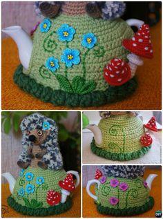 Crochet Hedgehog Tea Cozy Free Pattern-20 Crochet Knit Tea Cozy Free Patterns