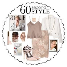 """60 Second Style -Job Interview"" by arimagedesign ❤ liked on Polyvore featuring MANGO, Dorothy Perkins, Etro, Nixon, Roberto Coin, LORAC, Beautycounter, Fratelli Karida, jobinterview and 60secondstyle"