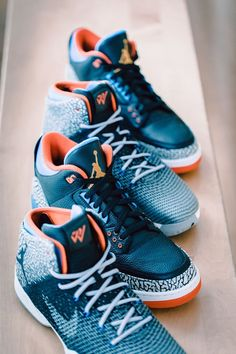 best website 2b539 9ea1e In Russell Westbrook stepped on the court in a PE edition of the Air Jordan  3 Retro.