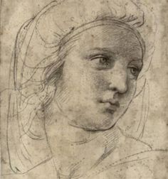 Raphael drawing for Vatican frescoes