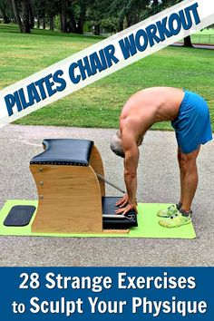 Pilates Chair Workout for Lean Muscle : Pilates provides unique calisthenics that are uncommonly effective at sculpting the muscles of the human body. Click-through to experience the Wunda Chair workout. Pilates Training, Pilates Workout, Hiit, Fun Workouts, At Home Workouts, Pilates Chair, Weekly Workout Plans, Exercise Plans, Chair Exercises