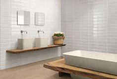 Ocean & Merchant's Edge Bianco used on the walls Bathroom Vanity, Modern Bathroom, Bath, Bathroom Solutions, Big Bathrooms, Modern Bathroom Remodel, Tile Bathroom, Home Decor, Bathroom