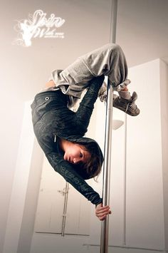 This is how I hope the world looks at pole dancing soon.... keep your feet up and your head down and back ;)