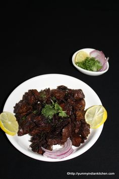 Chicken liver fry is a quick non vegetarian recipe made using the liver of chicken. It is stir fried in some spices and can be eaten plain or as a starter..