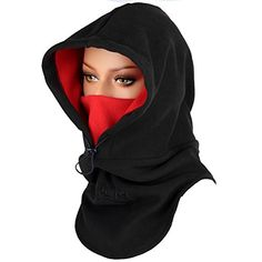 Purjoy Warm Thickening Fleece Balaclava Full Face Mask Hats Neck Warmer Outdoor Winter Sports >>> Read more at the image link. (This is an affiliate link) Easy Face Masks, Full Face Mask, Diy Face Mask, Mouth Mask Fashion, Fashion Mask, Diy Fashion, Head Bandana, Tent Accessories, Cyberpunk Fashion