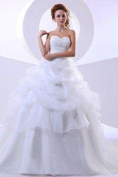Pick up gesticktes pompöse bodenlanges romantisches Brautkleid