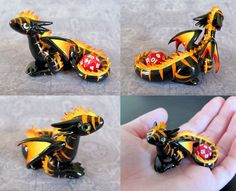 Mini dice dragons take care of your dice while you're away