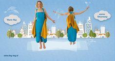 Hug-Bag® Not just a bag! - die Schaltasche - Handtasche & Schal