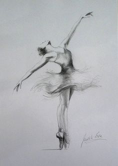 Original pencil drawing 12 x 8 on white paper of ballerina by ewa gawlik--strength for a little girl's room Ballerina Drawing, Ballet Drawings, Dancing Drawings, Pencil Sketches Of Girls, Cool Pencil Drawings, Art Drawings Sketches, Plant Drawing, Girl Sketch, Sketch Inspiration