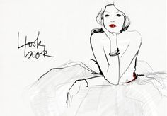 More of the drawings from: http://www.garancedore.fr/en/  I love the red lips and deep, thick black lines