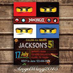 Kais invitations!!! Lego Ninjago Invitation for Birthday Party DIY by AngelWings2015