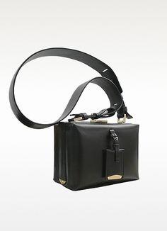 c61c293f54ef Jil Sander Nuvoletti Black Leather Shoulder Bag