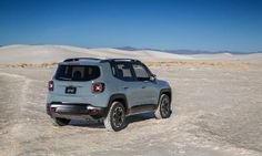 The Jeep Renegade Trailhawk gets additional exterior details for better off-roading.  Photo by: Jeep; scared to like it, waiting to see reviews! Based on the Fiat Panda 4x4