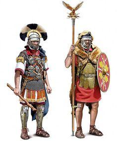 Roman Centurion and Aquilifier, c. AD 50-110.