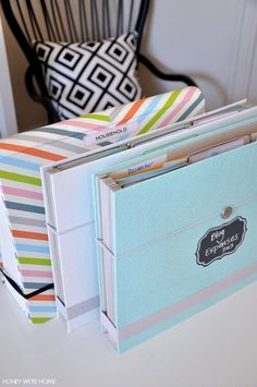 Organized paper files | Honey We're Home