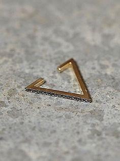 Triangle ear cuff.