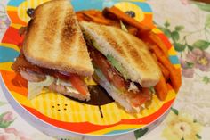 BLAT with sweet potato fries #sandwich