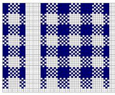 gingham check knitting pattern - Google Search