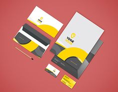 """Envelope and Visiting Card for """"VenueHook"""" Stationary Design, Corporate Identity, Working On Myself, New Work, Envelope, Behance, Gallery, Check, Cards"""