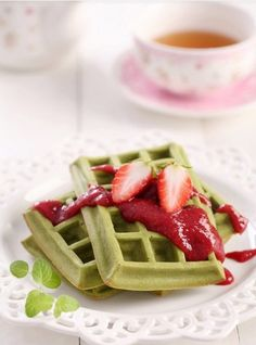 Maccha waffle - I was given some of this, I need to try it