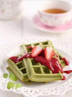 Maccha waffle