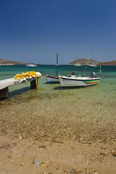 Astypalea Island - Maltezana beach Stayed at the Mayor's house.back in the or 2 taxis back then and spear fishing for dinner. The Boat That Rocked, Beautiful World, Beautiful Places, Spear Fishing, Greek Language, Greece Islands, Canoes, Small Boats, Greece Travel