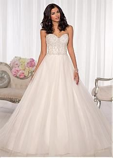Fabulous Tulle Sweetheart Neckline Natural Waistline A-line Wedding Dress