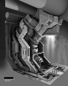 Halo 4 - Gas Processor design, Michael Pedro on ArtStation at… Spaceship Interior, Futuristic Interior, Science Fiction, Environment Concept Art, Environment Design, Prop Design, Game Design, Hard Surface Modeling, Mekka